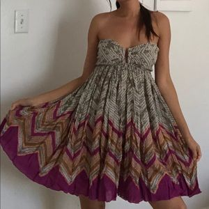 Free People Strapless Cover Up Dress